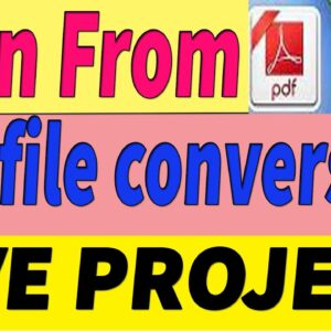 Earn  from Free PDF To WordDoc Converting Bangla LIVE PROJECT