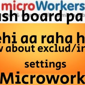 EXCLUDE AND INCLUDE SETTING IN MICRWORKERS# MICROWORKERS 2020