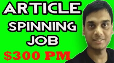 Article spinning job explained | Make money from article rewriter tool without software | Hindi