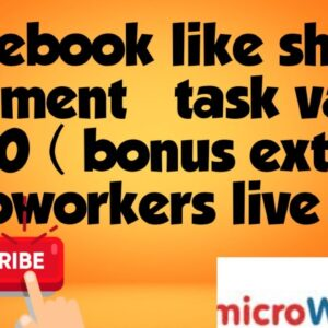 Facebook like share and comment (0.10 dollar)# microworkers task #