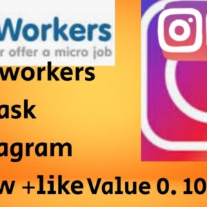 instagram follow+like (0.10 ,dollar)# Microworkers task