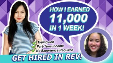 Be a Part-time Transcriptionist in REV and Earn 11,000 pesos! Work from Home English Subtitles
