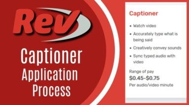 Rev Captioner Job Application Process: How to Pass the Test