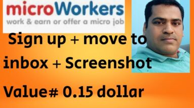 SIGN UP + MOVE TO INBOX +SCREENSHOT#MICROWORKERS TASK 2020