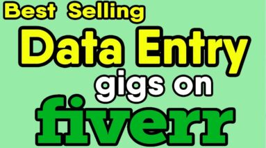 Best Data Entry Jobs gig on Fiverr | Types of Data Entry services on Fiverr