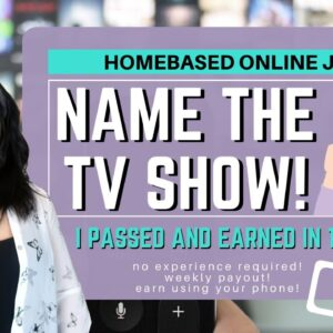 Earn By Naming the TV Show! | Small Online Jobs | NO experience Required! | English Subtitles