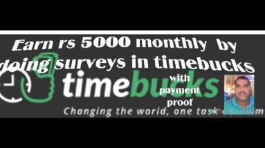 timebucks survey fulll tutorial with payment proof