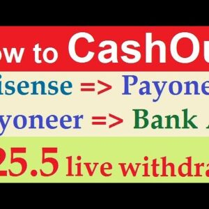 Clixsense Cash out | How to Withdraw Money from Clixsense to Payoneer ( Payonner to Bank) part-4