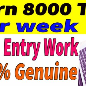 Work from Home Jobs  Data Entry Work 2020  Data Entry Jobs