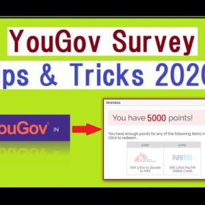 YouGov Daily Survey Tips and Tricks (Make Money online in 2020)