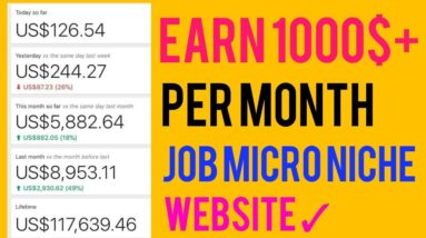 Create Micro Niche Job Site & Earn 1000$+ Per Month 😄 (New Tips & Tricks)