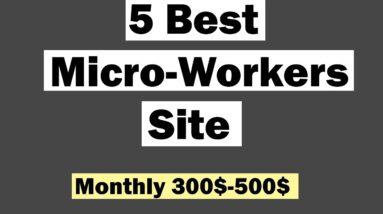 Top 5 Best Micro Jobs Site Bangla Tutorial || Earn Money From Micro Job Website || 2019