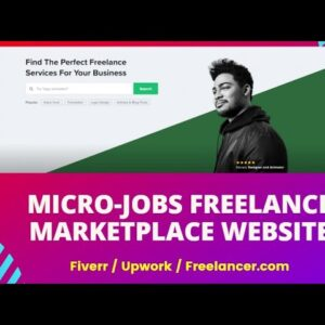 Freelancer & Micro Job Marketplace Website Bangla Tutorial | Micro Job wordpress Website like fiverr