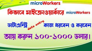 কিভাবে মাইক্রোওয়ার্কের (micro worker Data entry) ডাটা এন্ট্রি কাজ ধরবেন ও করবেন || data entry jobs||