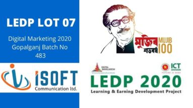 LEDP Digital Marketing 2020 | Gopalganj Batch No 483 Class  Microworkers Earning