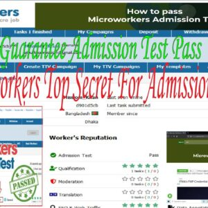 How to pass microworkers admission test 2021 100%  (question answer  Top Secret Technique)