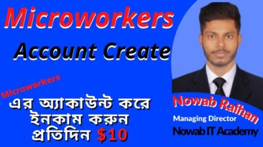 How to create Microworkers account 2021/microworkers account bangla tutorial,2021