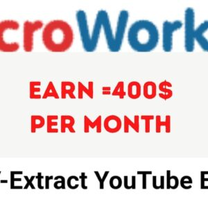 How can i do TTV Extract Youtube Email Job in Microworkers.com