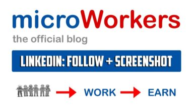 LinkedIn: Follow + Screenshot | Microworkers | Microsolution