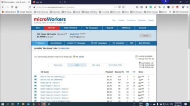 Microworkers Bad News  | account banned | Your Account has been restricted from doing any jobs