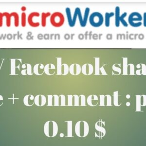 facebook task kaise pura kare on microworkers || how to complate of microworkers || 0.10 $ dolor